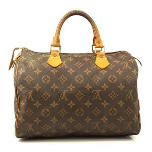 Auth Louis Vuitton Speedy 30 Hand Bag #5964L21